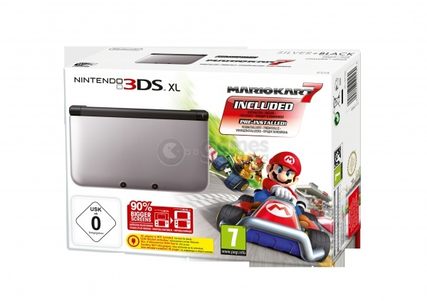nintendo 3ds xl black silver mario kart 7 nintendo 3ds. Black Bedroom Furniture Sets. Home Design Ideas