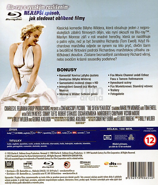 Slameny Vdovec Marilyn Monroe Blu Ray