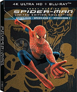 SPIDER-MAN 1 - 3 Origins Trilogie 4K Ultra HD DigiBook Kolekce
